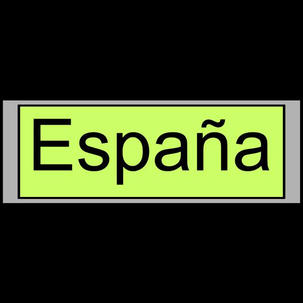 "Digital Display with ""España"" text"