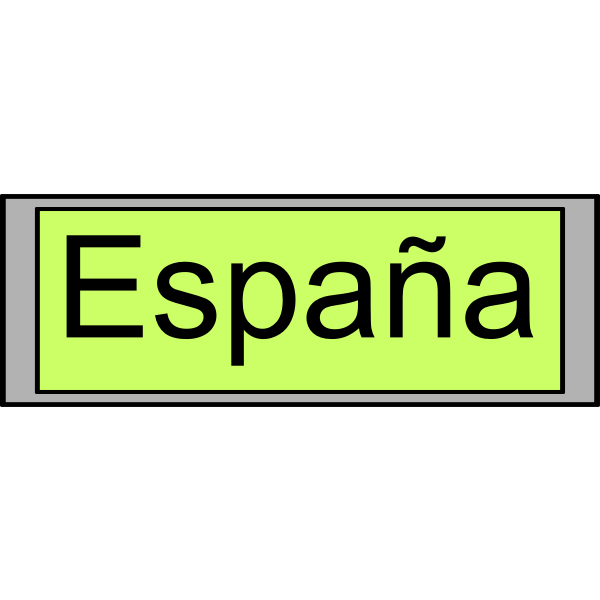 "Digital Display with ""España"" text"