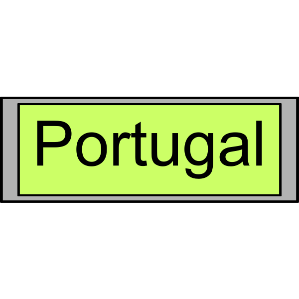 """Digital Display with """"Portugal"""" text"""