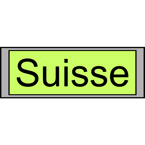 """Digital Display with """"Suisse"""" text"""