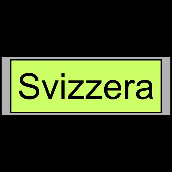 "Digital Display with ""Svizzera"" text"