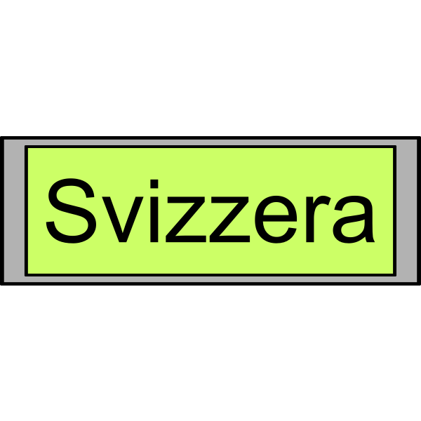 "Digital Display with ""Svizzera"" text"