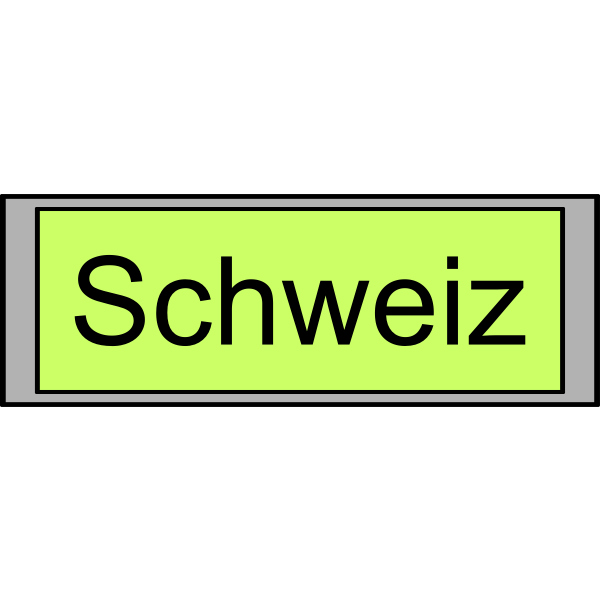 "Digital Display with ""Schweiz"" text"