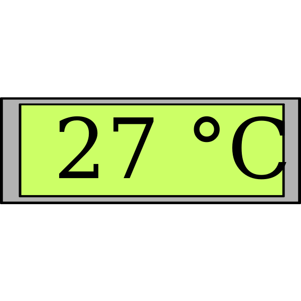 Digital display with temperature vector image