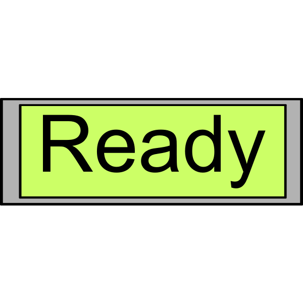"Digital Display ""Ready"" vector image"