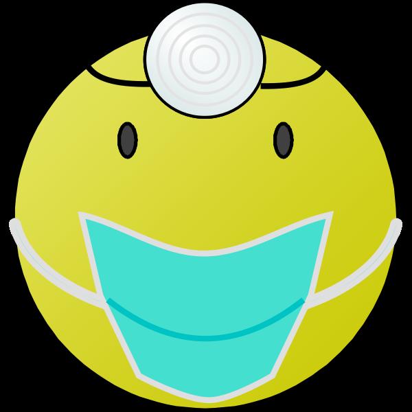 Doctor smiley vector graphics