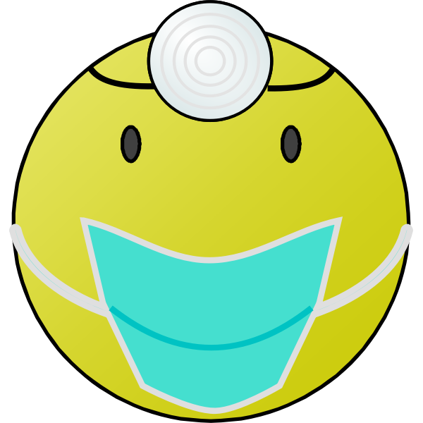 Doctor smiley vector graphics