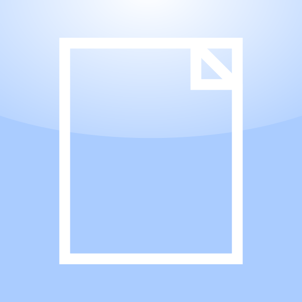 Vector illustration of blank document computer OS icon