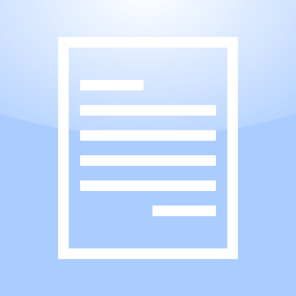 Vector image of wordprocessing document computer OS icon