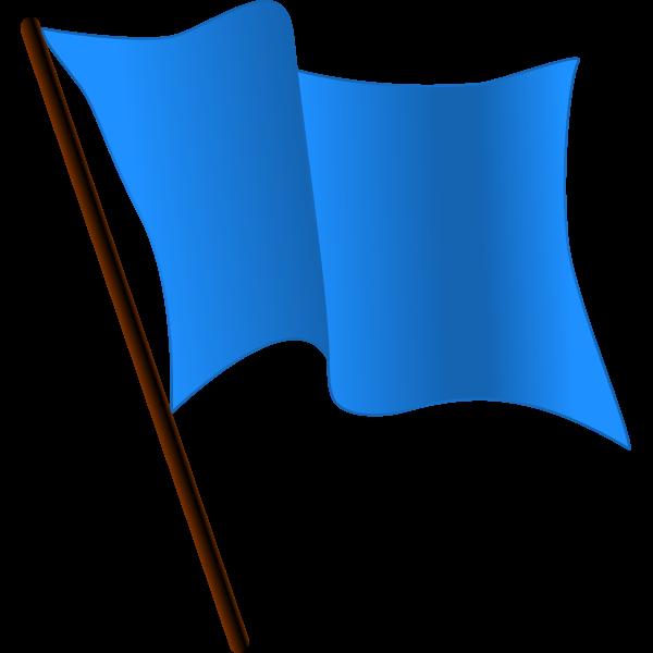 Blue Flag Waving Vector