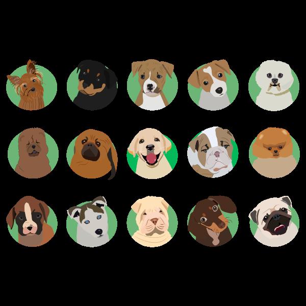 Dog Breeds Icons