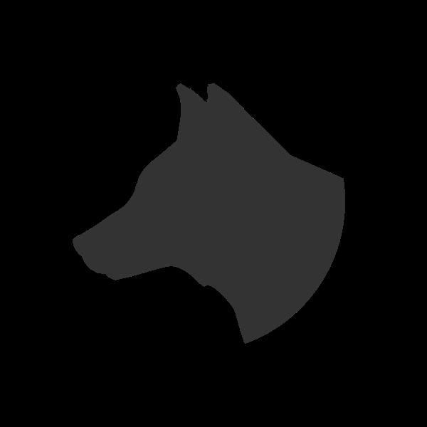 Dog's head silhouette