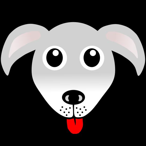 Funny dog head vector drawing