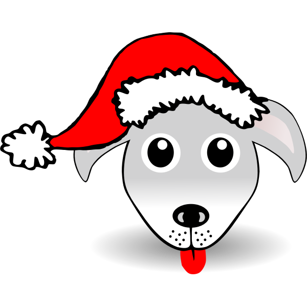 Funny Dog Face Vector
