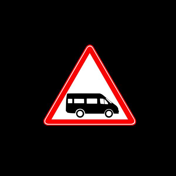 Dollar Van hazard vector sign