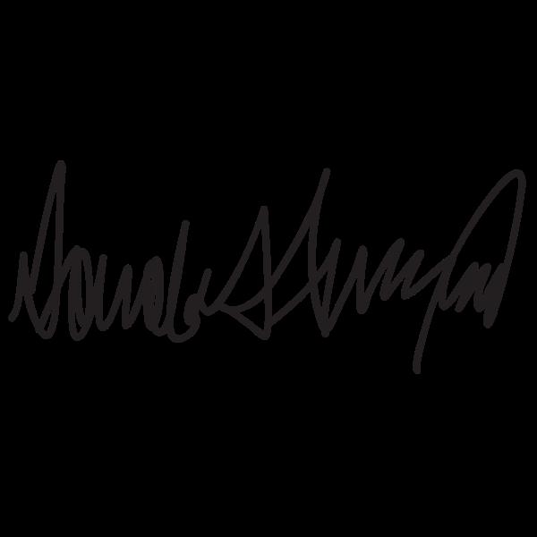 Donald Trump Signature 2015072935 Free Svg