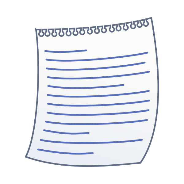 Vector drawing of blue lined writing paper
