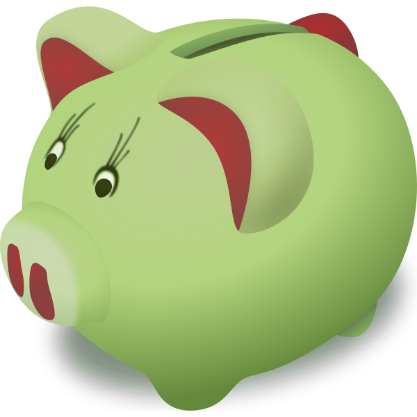 Piggy bank vector graphics