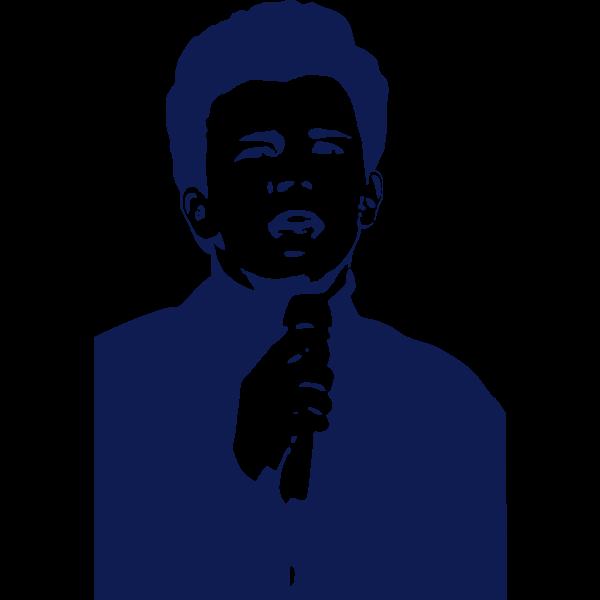 Vector image of singer