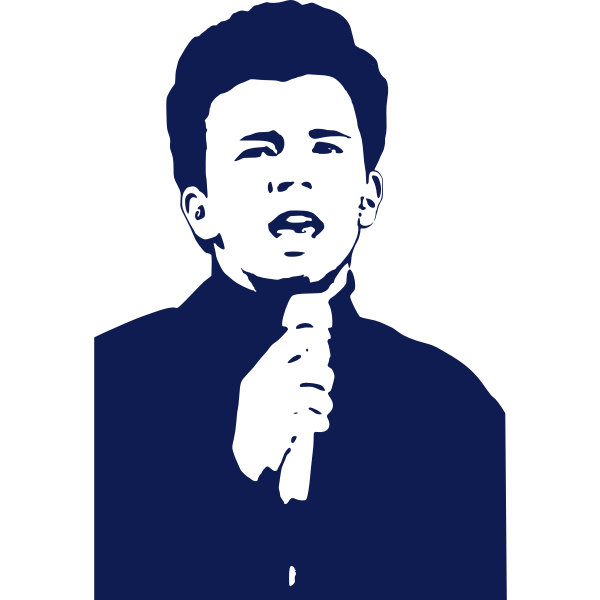 Vector image of singer