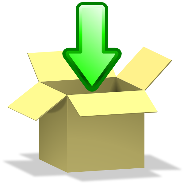 Download to box icon vector image