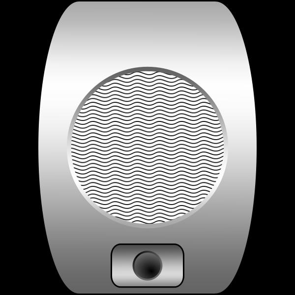 Drive-In cinema speaker vector image