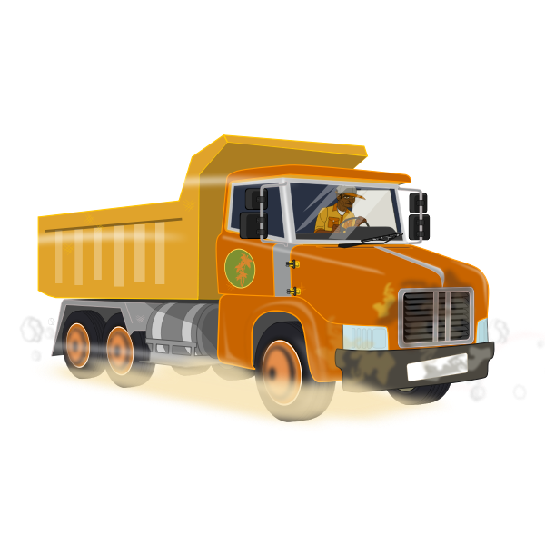 Dump tipper truck vector image