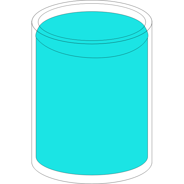 Glass full of water vector illustration