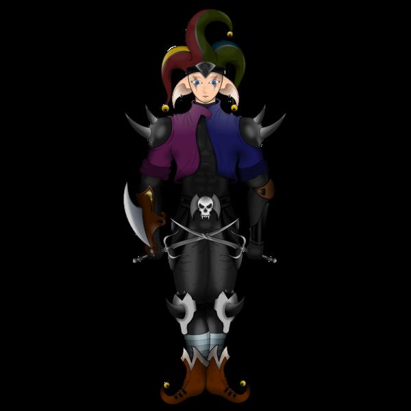 Creepy jester image