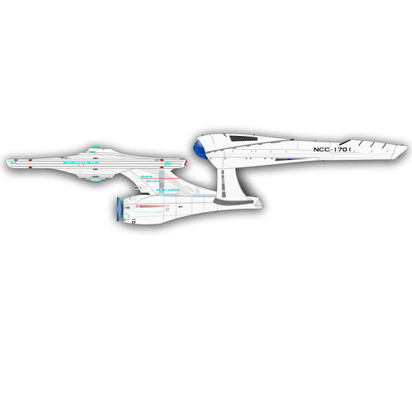 New Spaceship Enterprise vector drawing