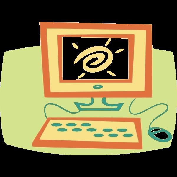 Cartoon PC vector image