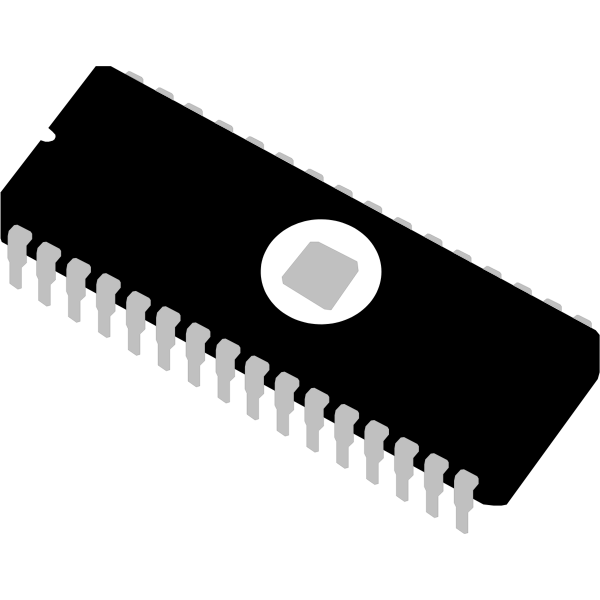 Vector image of Eprom computer memory module