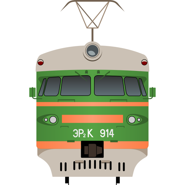 Front view of a train