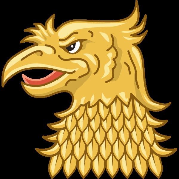 Golden eagle's head