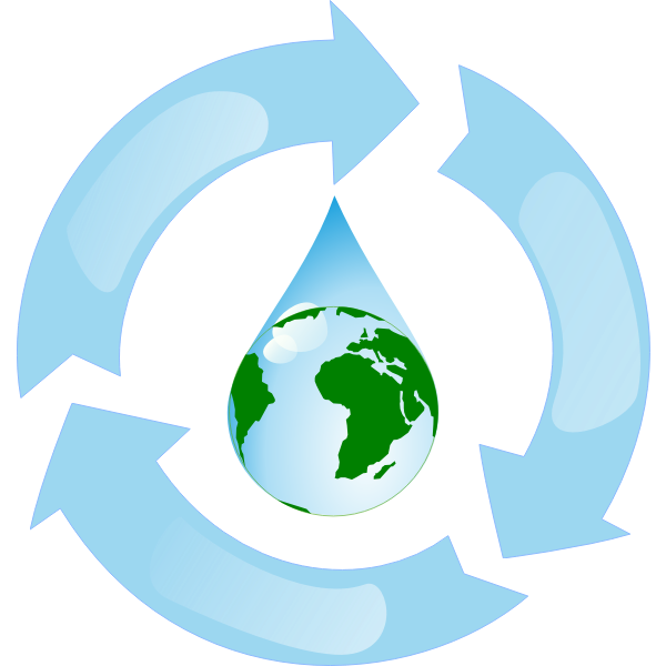 Vector illustration of recycle water sign