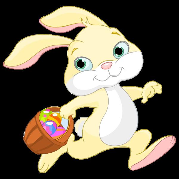 Easter bunny running