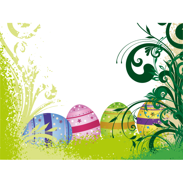 Vector illustration of Easter poster with eggs