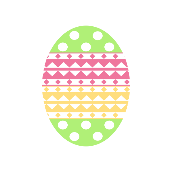 Pastel color Easter egg vector image