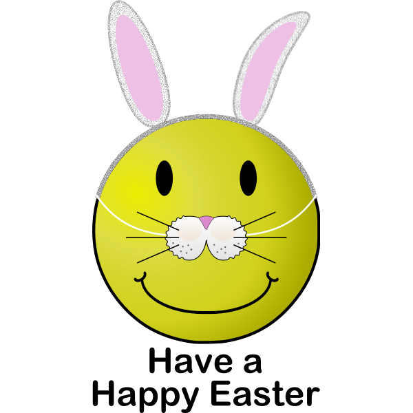 Easter smiley vector image