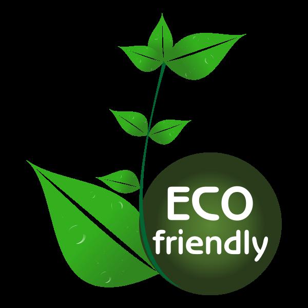 Eco friendly tag vector drawing