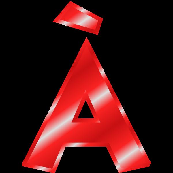 Effect Letters Alphabet red: À