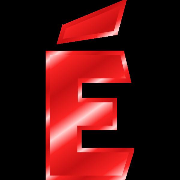 Effect Letters Alphabet red: É