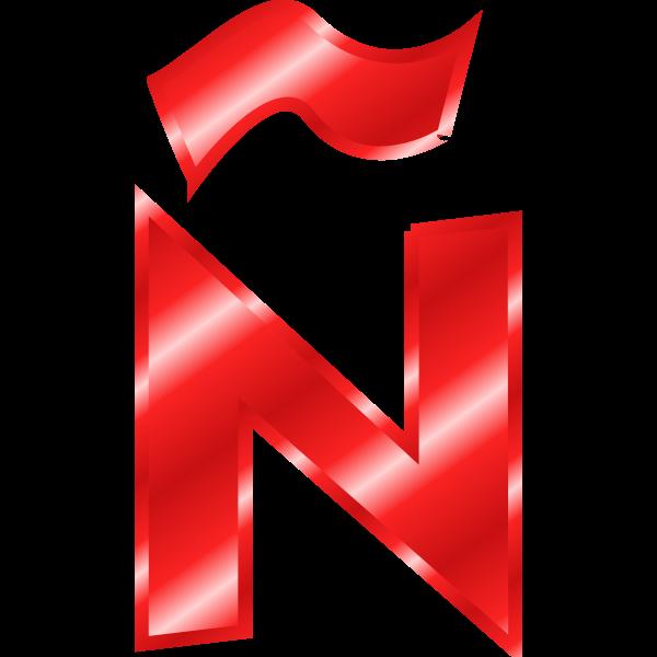 Effect Letters Alphabet red: Ã'
