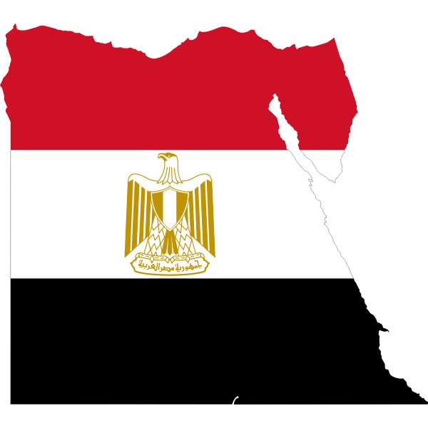 Egypt's flag and map