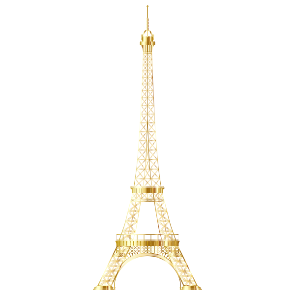 Eiffel Tower Gold No Background