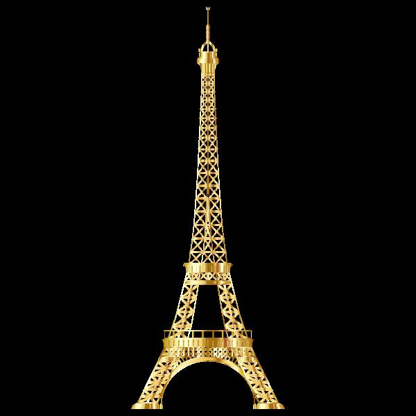 Eiffel Tower Gold No Background
