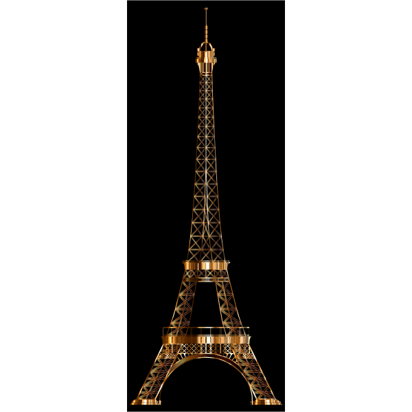 Eiffel Tower Shiny Copper