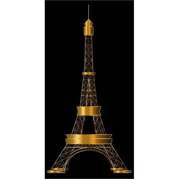 Eiffel Tower Two Gold