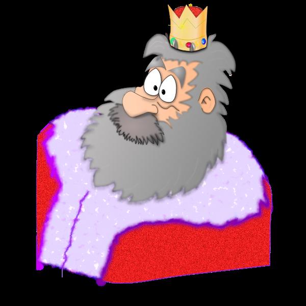 Santa the King vector graphics