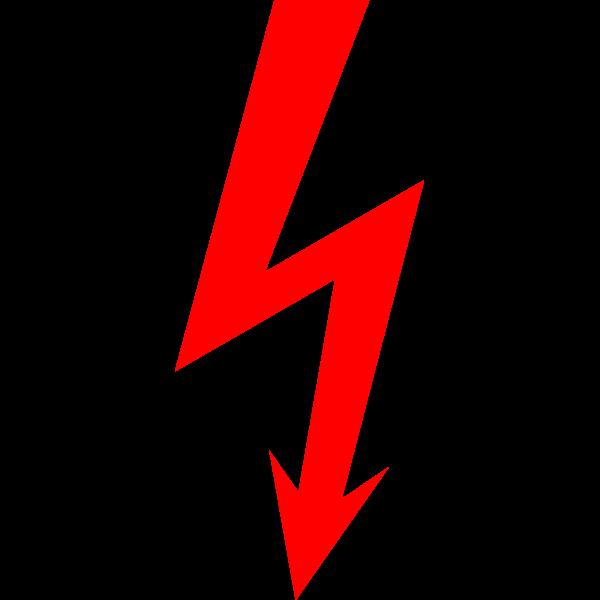 High voltage symbol